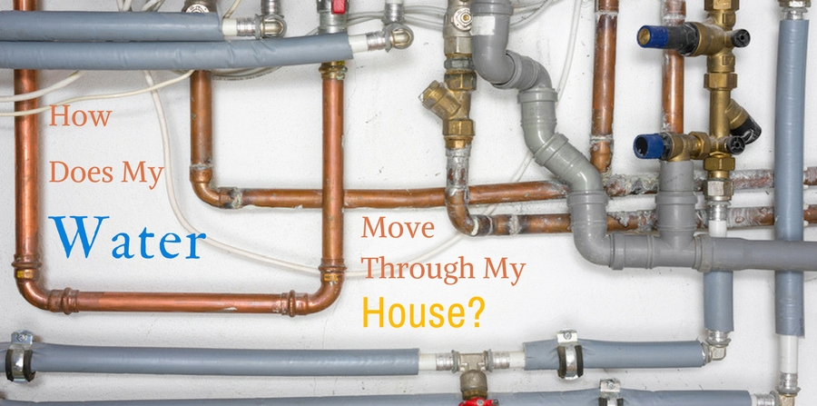 "Home plumbing pipes. ""How Does My Water Move Through My House?"""