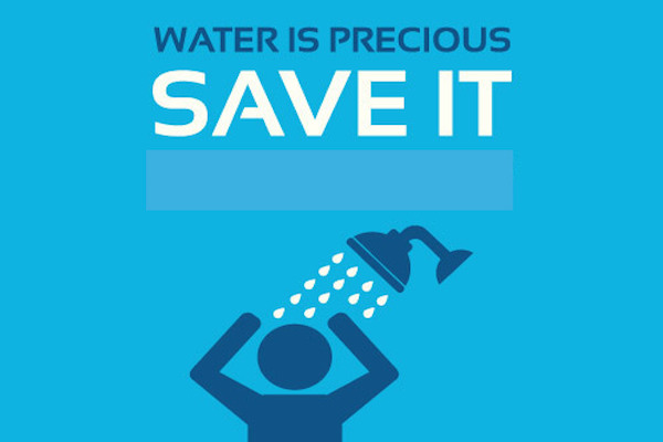 Save water graphic