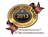 2013 Consumers Choice Award Seal
