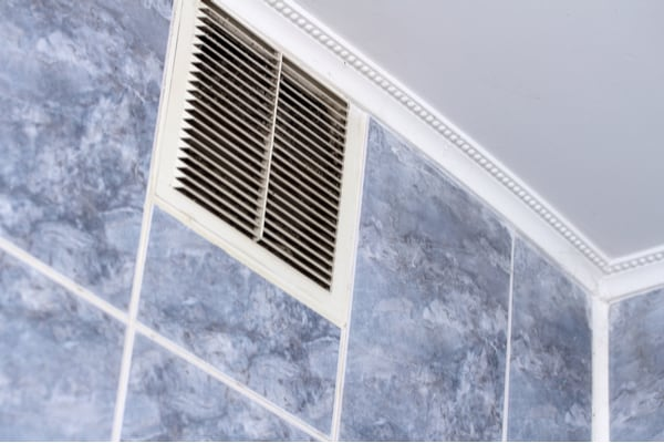 A bathroom vent removes mold causing moisture.
