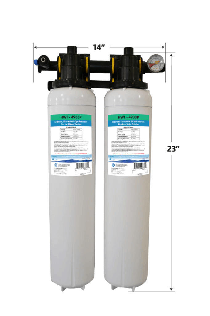 two grey water filters