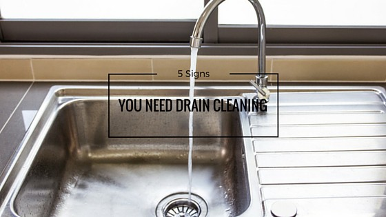 There are signs you need drain cleaning you should look out for.