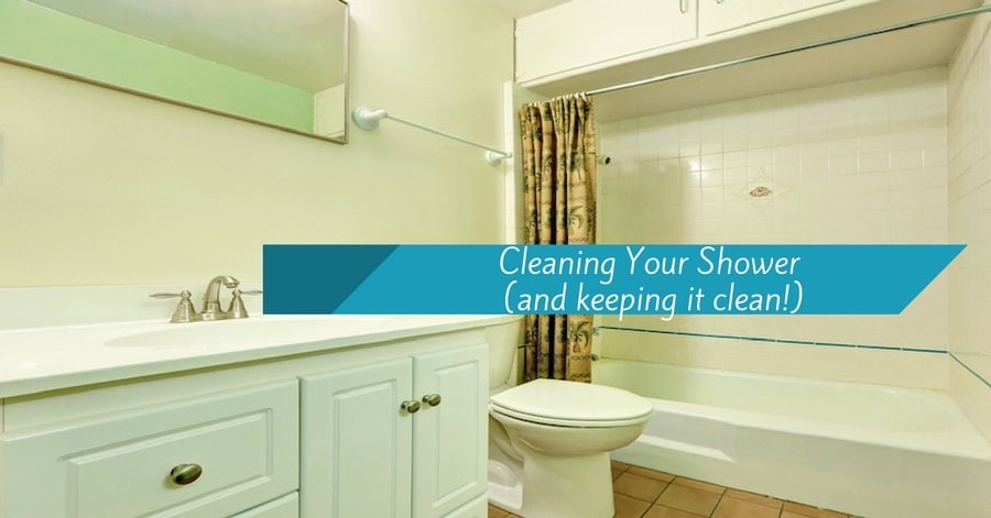 cleaning your shower and keeping it clean. Bathroom with shower.