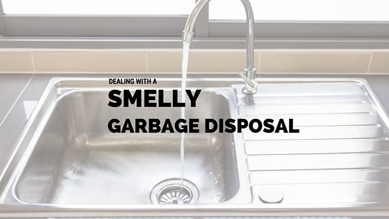 It's important to deal with a smelly garbage disposal.