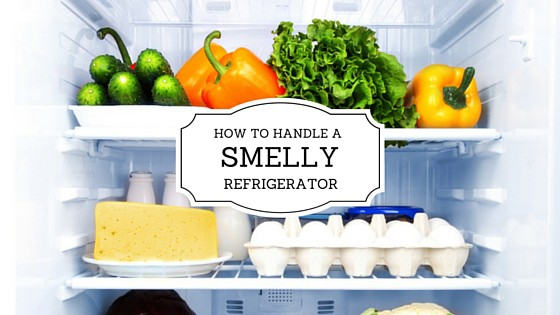 It's important to handle a smelly refrigerator.