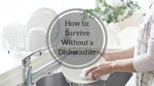 It's important to know how to survive without a dishwasher