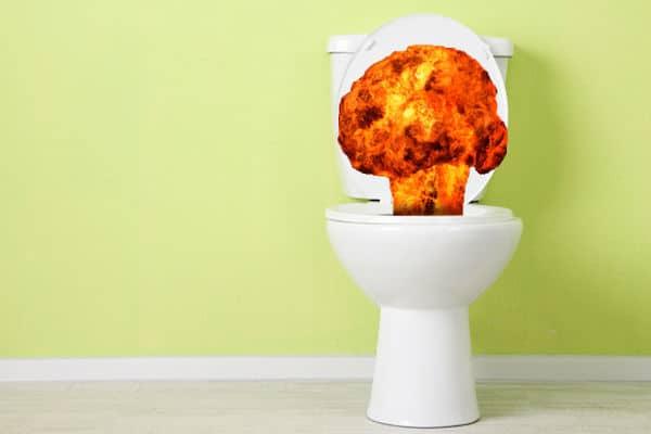 Exploding Toilet Ben Franklin Punctual Plumber Dallas