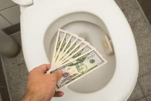 Replace toilets that seem to cause high water bills