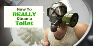 how to really clean a toilet