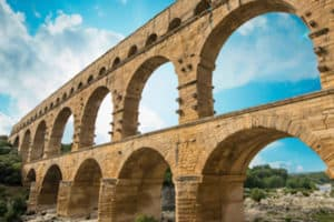 The aqueducts of Ancient Rome were central to the Roman civilization's flourishing