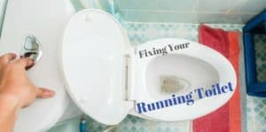 "Flushing a running toilet. ""Fixing your running toilet."""