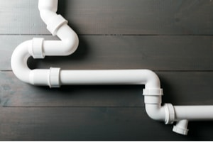 Plastic PVC pipes in a home