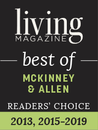 Living Magazine best of: McKinney & Allen Readers' Choice 2013, 2015-2019